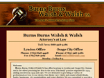 View an example of our brochure site package by checking out Burns Burns Walsh and Walsh